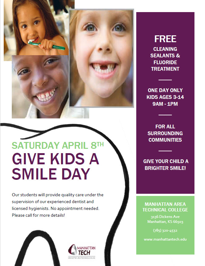 Give Kids a Smile Day April 8 2017, 9 am - 1 pm